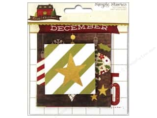 Simple Stories Paper Die Cuts / Paper Shapes: Simple Stories Cozy Christmas Snap Insta Squares