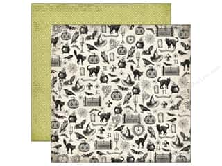 Echo Park Paper Company: Echo Park 12 x 12 in. Paper Arsenic & Lace Collection Spooky Icons (25 sheets)