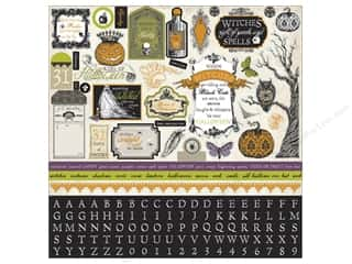Halloween $0 - $3: Echo Park Sticker 12 x 12 in. Arsenic & Lace Collection Element (15 sets)