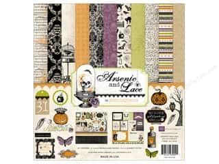 Floral Arranging ABC & 123: Echo Park 12 x 12 in. Arsenic & Lace Collection Kit