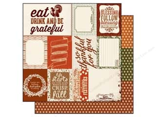 Captions Fall / Thanksgiving: Authentique 12 x 12 in. Paper Grateful Enhancements (25 pieces)