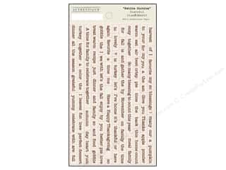 Captions Fall / Thanksgiving: Authentique Stickers 3 1/2 x 6 in. Grateful Petite Diction
