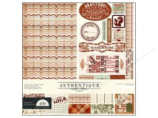 Authentique Fall / Thanksgiving: Authentique Collection Kit 12 x 12 in. Grateful