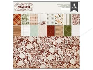 Fall / Thanksgiving Floral & Garden: Authentique Paper Pad 12 x 12 in. Grateful