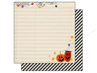 "Halloween Clearance Patterns: Simple Stories Frankie & Friends Paper 12""x 12"" Oct 31 (25 pieces)"