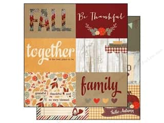 "Simple Stories Fall / Thanksgiving: Simple Stories Sweater Weather Paper 12""x 12"" Horizontal Journaling Card Elements 4""x 6"" (25 pieces)"