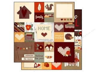 "Captions Fall / Thanksgiving: Simple Stories Sweater Weather Paper 12""x 12"" Insta-Square Elements 2""x 2"" & 4""x 4"" (25 pieces)"