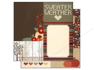 Simple Stories Sweater Wthr Paper 12x12 Card Elem (25 piece)