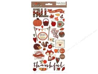 Simple Stories Sweater Wthr Sticker Chipboard