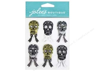 EK Jolee's Boutique Repeat Skulls Black and White