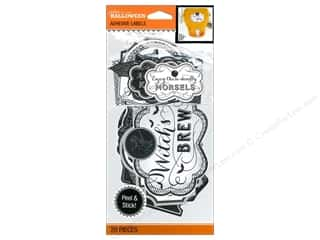 Halloween Spook-tacular paper dimensions: EK Jolee's Boutique Label Pack Black & White