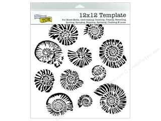 Stencils Family: The Crafter's Workshop Template 12 x 12 in. Nautilus