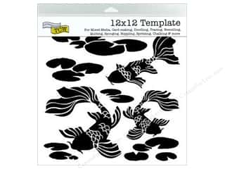 Clearance The Crafters Workshop Template: The Crafter's Workshop Template 12 x 12 in. Koi Pond