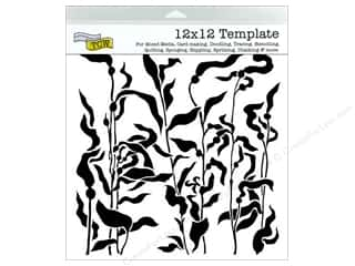Crafter's Workshop, The Stenciling: The Crafter's Workshop Template 12 x 12 in. Kelp Forest