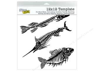 Crafter's Workshop, The Animals: The Crafter's Workshop Template 12 x 12 in. Fish Fossils