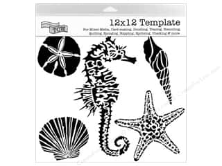 Clearance The Crafters Workshop Template: The Crafter's Workshop Template 12 x 12 in. Sea Creatures