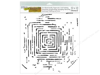 "Stenciling 12 x 12: The Crafters Workshop Stencil 12""x 12"" Rebekah Meier Designs Labyrinth"