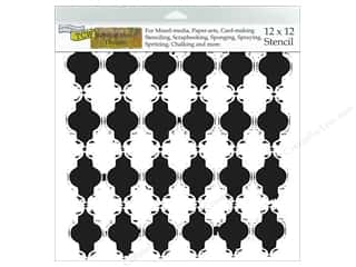 "Craft & Hobbies The Crafters Workshop Stencil: The Crafters Workshop Stencil 12""x 12"" Rebekah Meier Designs Alhambra"