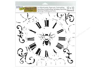 Insects Stencils: The Crafter's Workshop Template 12 x 12 in. Bee On Time