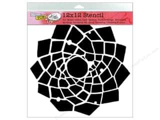 The Crafter's Workshop Template 12 x 12 in. Trapezoid Flower