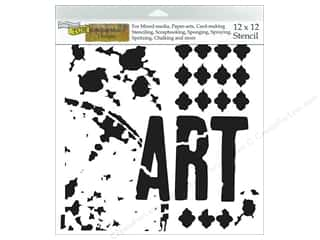 "Captions Craft & Hobbies: The Crafters Workshop Stencil 12""x 12"" Rebekah Meier Designs Viva La Art"