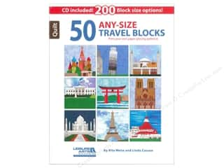 Books & Patterns Computer Accessories: Leisure Arts 50 Any-Size Travel Blocks Book
