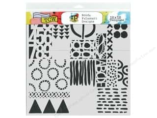 The Crafter's Workshop Template 12 x 12 in. Geometric Art Layers