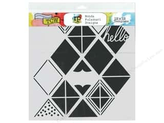 The Crafter's Workshop Template 6 x 6 in. Diamond Lattice