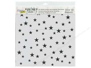 The Crafter's Workshop Template 12 x 12 in. Random Stars