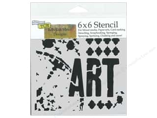 Craft & Hobbies The Crafters Workshop Stencil: The Crafter's Workshop Stencil 6 x 6 in. Viva La Art
