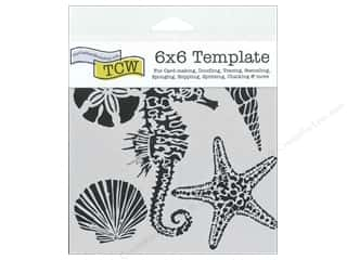 Crafter's Workshop, The Animals: The Crafter's Workshop Template 6 x 6 in. Sea Creatures