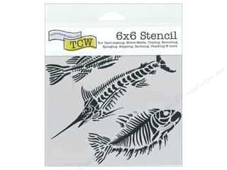 The Crafter's Workshop Template 6 x 6 in. Fish Fossils