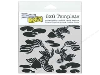 Stencils Lily: The Crafter's Workshop Template 6 x 6 in. Koi Pond