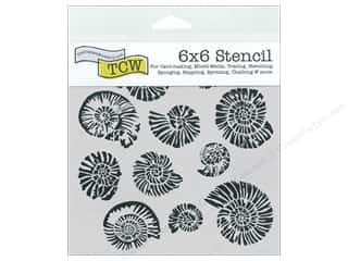 Stencils Family: The Crafter's Workshop Template 6 x 6 in. Nautilus