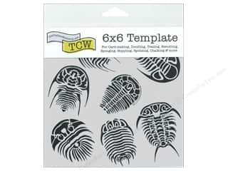 Stencils $6 - $7: The Crafter's Workshop Template 6 x 6 in.Trilobites
