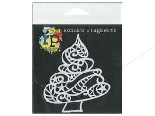 Crafter's Workshop, The Craft & Hobbies: The Crafters Workshop Stencil Ronda's Fragments Curly Christmas Tree