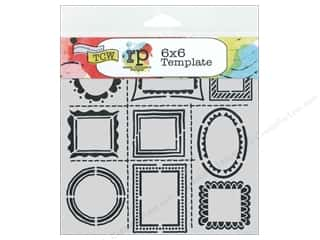 "Stencils 6 x 6: The Crafters Workshop Stencil 6""x 6"" Ronda Palazzari Designs Hand Drawn Frames"