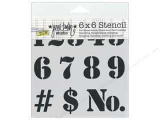 The Crafter's Workshop Template 6 x 6 in. Number