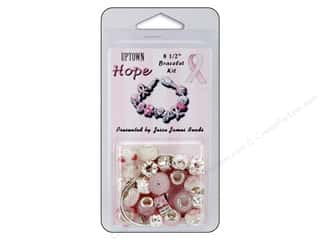 Crafting Kits $8 - $12: Jesse James Kit Breast Cancer Awareness Uptown Hope Bracelet Kit 8.5""