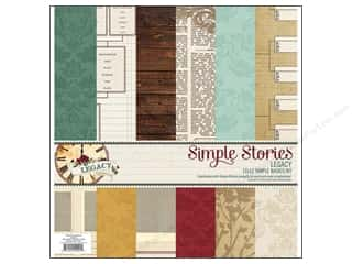 Simple Stories Designer Papers & Cardstock: Simple Stories Legacy Simple Basic Kit