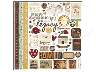 Family Brown: Simple Stories Legacy Sticker Fundamentals (12 pieces)