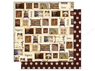 "Family Brown: Simple Stories Legacy Paper 12""x 12"" Treasure (25 pieces)"