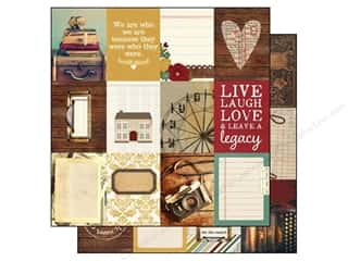 "Patterns Family: Simple Stories Legacy Paper 12""x 12"" Journaling Card Elements 3""x 4"" (25 pieces)"
