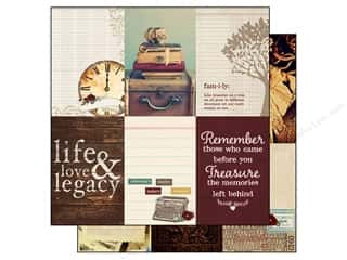 "Family Books: Simple Stories Legacy Paper 12""x 12"" Journaling Card Elements Vertical 4""x 6"" (25 pieces)"