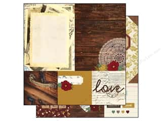 "Patterns $6 - $8: Simple Stories Legacy Paper 12""x 12"" Quote 4""x 4"" & Photo Mat Elements 6""x 8"" (25 pieces)"