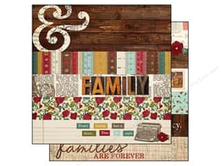 "Books Family: Simple Stories Legacy Paper 12""x 12"" Border 2""x 12"" & Title Strip Elements 4""x 12"" (25 pieces)"