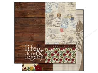 "Patterns Family: Simple Stories Legacy Paper 12""x 12"" Page Elements 6""x 12"" (25 pieces)"
