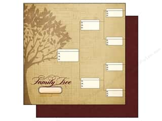 "Patterns Family: Simple Stories Legacy Paper 12""x 12"" Family Tree 1 (25 pieces)"