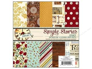 "Family Brown: Simple Stories Legacy Paper Pad 6""x 6"""