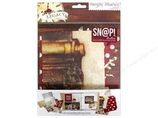 Decorative Floral Critters & Accessories Paper Die Cuts / Paper Shapes: Simple Stories Legacy Snap Journal Pages